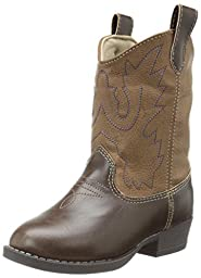 Baby Deer Western Boot (Infant/Toddler),Brown,3 M US Infant