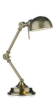 Lampe Bureau Laiton Endroits Traditionnel En Réglable Deux 5jA34RL