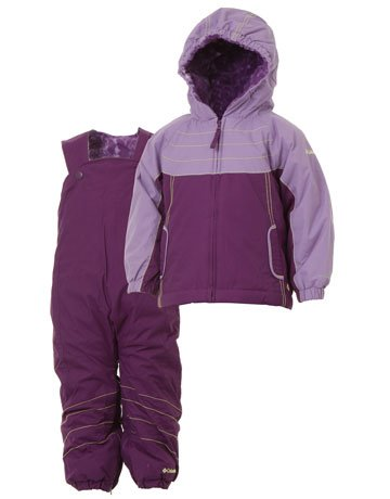 Columbia Twinkle Zip Set Youth Jacket + Pant - Iris Glow/Heliotrope, 3 Toddler