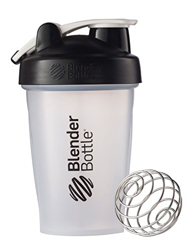 BlenderBottle Classic Loop Top Shaker Bottle, Clear/Black, 20-Ounce (Patented Blender compare prices)