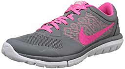 Nike Women\'s Flex 2015 Rn Cool Grey/Pink Pow/White Running Shoe 6.5 Women US