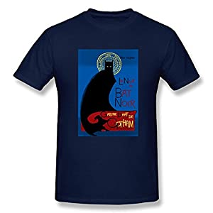Buy Customize Funny La Bat Noir T-shirt O-Neck Solid by Men Tshirt