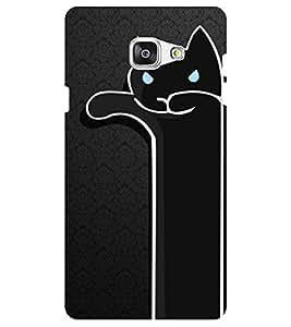 Chiraiyaa Designer Digital Printed Premium Back Cover Case for Samsung Galaxy J7 Prime (cat black) (Multicolor)