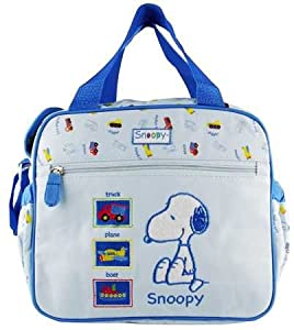 baby snoopy 39 s blue diaper bag cooler bag diaper tote bags baby. Black Bedroom Furniture Sets. Home Design Ideas