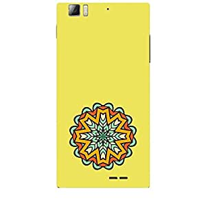 Skin4gadgets Artistically Drawn Mandala Tattoo In Pastel Colors -Light Yellow, No.6 Phone Skin for LENOVO K900