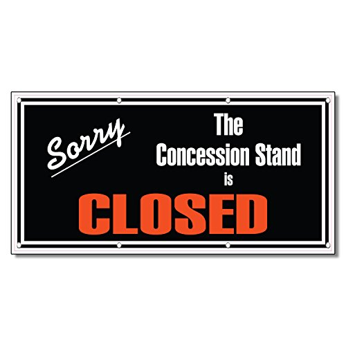 Sorry The Concession Stand Is Closed Restaurant Café 13 Oz Vinyl Banner Sign 4 Ft X 8 Ft (Banner Stand For Restaurant compare prices)