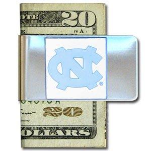 North Carolina Tar Heels - UNC Large Money Clip Card Holder - NCAA College Athletics... by Siski You