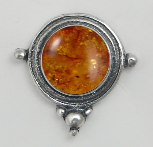 Amber Sterling Silver Stud Earrings When You Need Just a Little Bit of Color