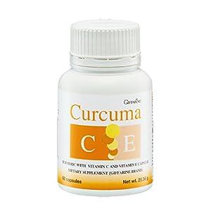 Giffarine Curcuma C E Turmeric With Vitamin C & E Dietary Supplement, 60 Capsules