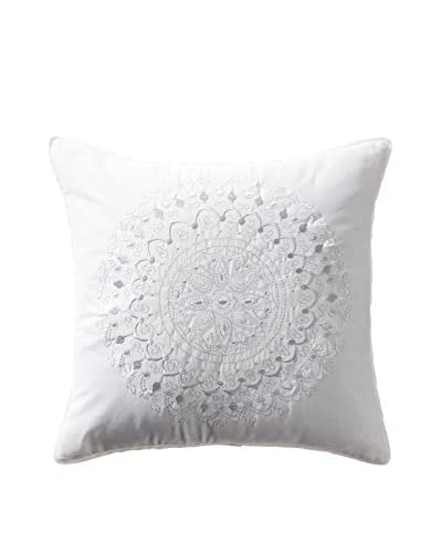 Stone Cottage Moore Embroidered Decorative Pillow, White