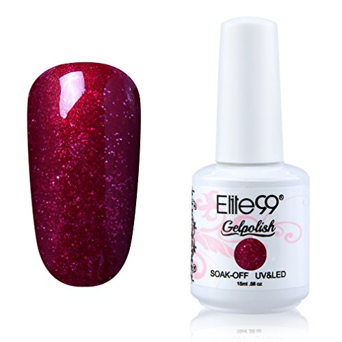 Elite99 Soak-off Gel Polish Lacquer Nail Art UV LED Manicure Varnish 15ml Pearl Sangria 1363