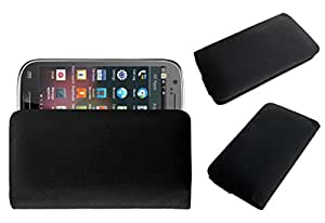 Acm Rich Leather Soft Case For Maxx Ax3 Mobile Handpouch Cover Carry Black