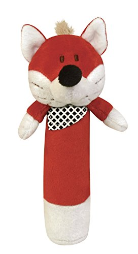 Stephan Baby Plush Velour Squeaker Toy, Red Fox