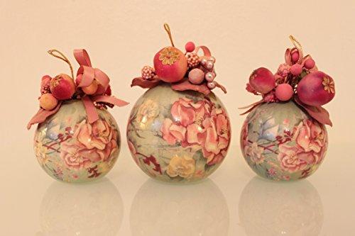 papel-mache-retro-grande-de-bolas-de-navidad-de-3-flores-con-frutas-y-cintas