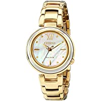 Citizen Eco-Drive Citizen L Sunrise Mother of Pearl Gold Women's Watch