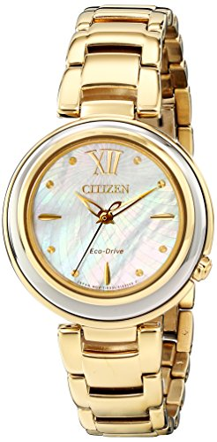 Citizen Eco-Drive Sunrise Stainless Steel - Gold-Tone Women's watch #EM0334-54D