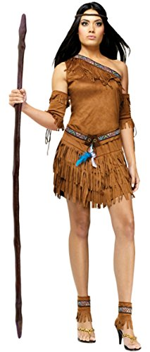Funworld Womens Sexy Native American Pow Wow Theme Party Halloween Costume
