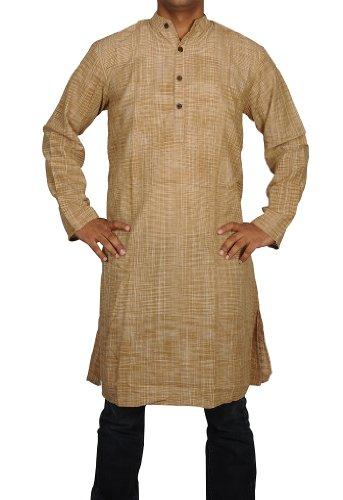 Designed Mens Casual Cotton Long Kurta Fabric For Winter & Summers Size XL