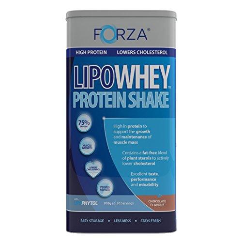 FORZA LipoWhey Protein Shake - Lowers Cholesterol - 908g (Chocolate)