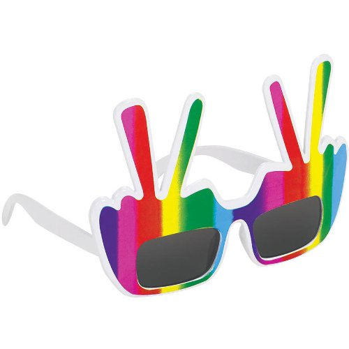HIPPIE PEACE SYMBOL GLASSES UV - 1