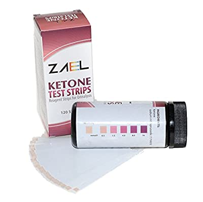 ZAEL Ketone Test Strips, 120ct Premium Value with Free Low Cab One Week Meal Plan (8x11), Ketone Urine Test * Perfect for Ketosis, Diabetics, Paleo & Atkins Diet.