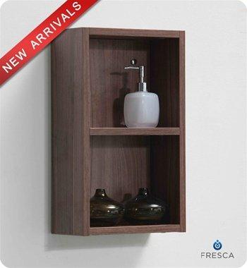 Fresca Small Light Walnut Bathroom Linen Side Cabinet - FST8092WL