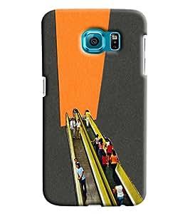 Blue Throat Escalator Scene Printed Designer Back Cover/ Case For Samsung Galaxy S6 Edge Plus