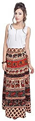 Soundarya Women's Cotton Wrap Skirt (6043, Long)