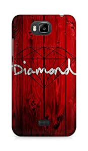 Amez designer printed 3d premium high quality back case cover for Huawei Honor Bee (Red Wooden Diamond Painting Art Drawn)