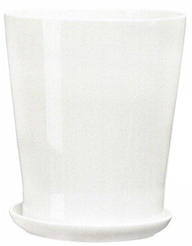 Keramik-Blumenkbel-Blumentopf-Pflanzkbel-bertpfe-3-Gren-6-Farben-L-XXL-Durchmesser-18-cm-Hhe-215-cm-wei