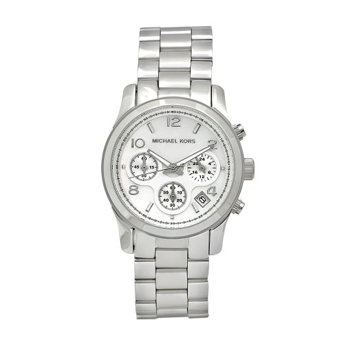 Michael Kors Women's MK5304 Silver Stainless-Steel Quartz Watch with Silver Dial