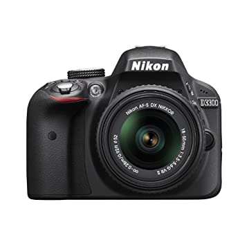 Nikon D3300 24.2MP CMOS Digital SLR with AF-S DX NIKKOR 18-55mm f/3.5-5.6G VR II Zoom Lens (Black)