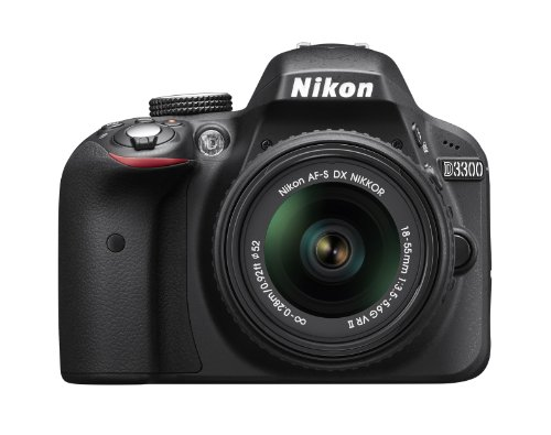 Nikon D3300 24.2 MP CMOS Digital SLR with AF-S DX NIKKOR 18-55mm f/3.5-5.6G VR II Zoom Lens (Black) - NIKON