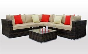 Kensington Corner Sofa Set Rattan Outdoor Garden Furniture