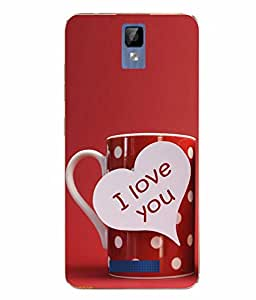 Case Cover Love & Kiss Printed Red Soft Back Cover For Gionee P7 MAX