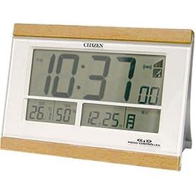【クリックで詳細表示】CITIZEN (シチズン) 目覚し時計 パルデジットR048 温度表示 湿度表示 8RZ048-006
