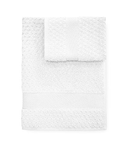 Set asciugamani Bagno spugna Sirena asciugamano + ospite CALEFFI -Bianco