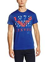 Diesel Camiseta Manga Corta (Azul)