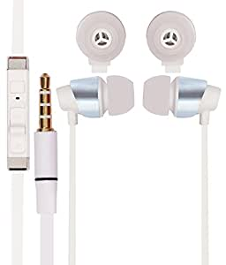 White Stylabs 3.5mm In Ear bud Stereo Earphones Mini Size HeadSet Headphone Handsfree with Mic For Samsung Galaxy S Duos 2 7582 / S Duos 7562 available at Amazon for Rs.230