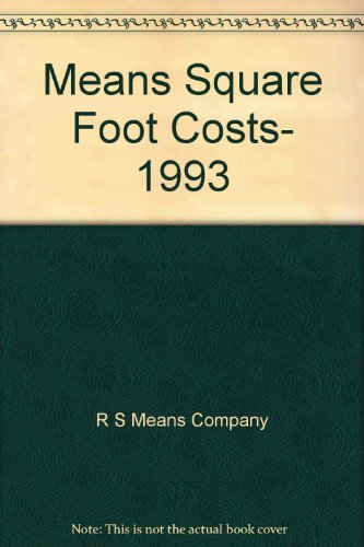 Used Gd Means Square Foot Costs 1993 By R S Means