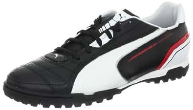 PUMA Men's Momentta TT Soccer Shoe,Black/White/Ribbon Red,9.5 D US