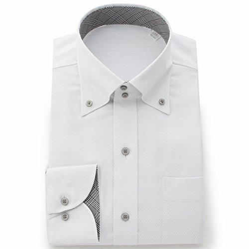 ビサルノ(VISARUNO) ラクチンすっきりYシャツ・肌触りなめらか素材形態安定生地使用【02LグレーA(標準)/39-78~80】