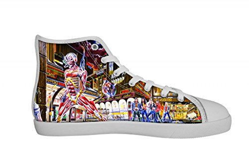 Rock Band Iron Maiden Women's Canvas Shoes Women White High Top Canvas Shoes-5M US Rock B00OXRESXG