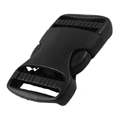 Luggage 35mm Width Strap Replacement Side Quick Release Buckle Black from sourcingmap