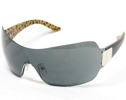 Bolle Sunglasses Essence Black/Leopard Frame with TNS Gray Shield Lens