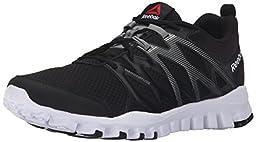 Reebok Men\'s Realflex Train 4.0 Running Shoe, Black/Flat Grey/White, 11.5 M US