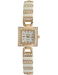 S R Collection's Timiho Girls Rose Gold Metal Analog White Dial Watch (SR00404)