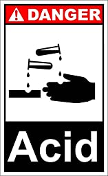 Acid Danger OSHA / ANSI LABEL DECAL STICKER 18 inches x 24 inches