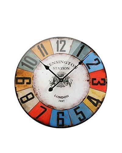 Zings Reloj De Pared Multicolor