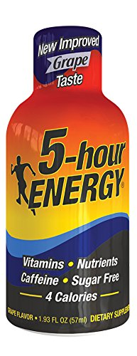 Living Essentials 5 Hour Energy Grape, 1.93-Ounce Bottles (Pack of 12)
